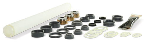 Replacement part suitable for OMAX®. Minor rebuild kit. Kit includes: ACS11989 pump seal repair kit, backup ring assembly, filter assembly & O-ring. Replaces OMAX® part # 302700.