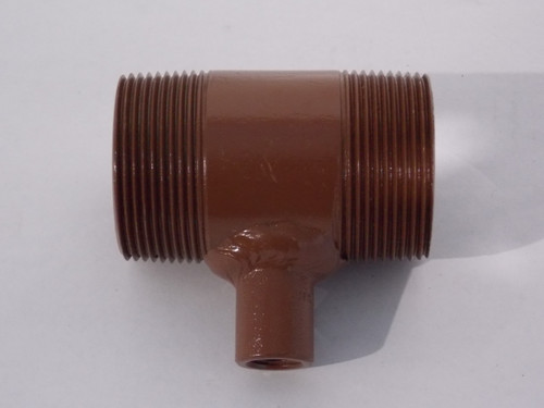 "Nipple w/ 1/4"" Outlet, 1-1/2"" NPT x 3"" LG SCH80, Part # 8408-000-188"