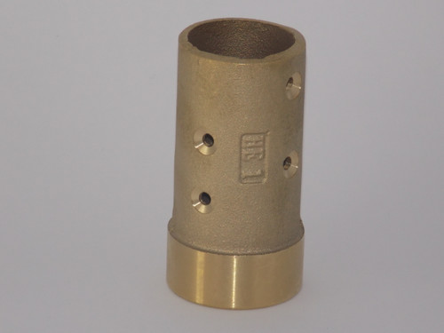 "Brass Nozzle Holder, Fits 1-1/2"" OD Blast Hose, 1-1/4"" Fine Thread - Part # 13BRHE1"