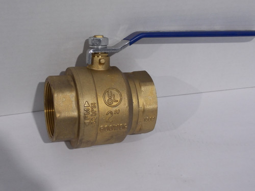 "2"" Ball Valve, Brass, Part # VBBR200"
