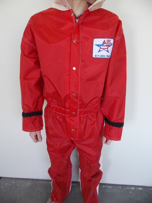 Blast Suit, Nylon-Canvas with Leather on Leg and Cuff, Zipper Leg and Reinforced Seat, Large - Part # 5050-MPRLLW2-L