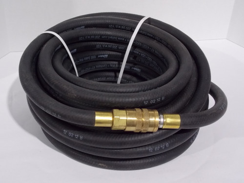 """1/2"""" Industrial Interchange (Hansen Compatible) Quick-Disconnect Coupler and Nipple, Used w/ Bullard Free Air Pumps, 50' Hose, Part # V2050ST"""