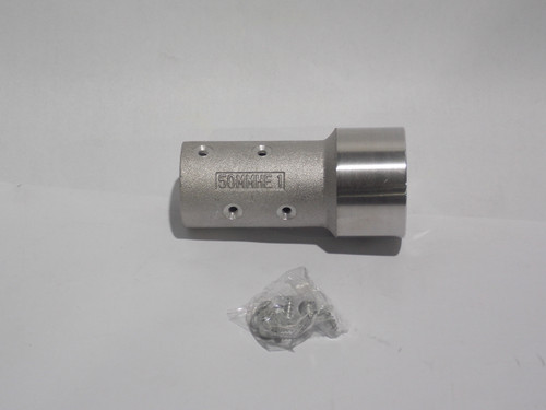 "Aluminum Nozzle Holder, Fits 1-1/2"" OD Blast Hose, 50MM Threads - Part # 13ALMHE1"