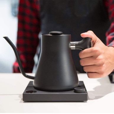 Fellow Stagg EKG+, Electric Pour-over Kettle For Coffee And Tea, Matte Black, Variable Temperature Control, 1200 Watt Quick Heating, Built-in Brew Stopwatch