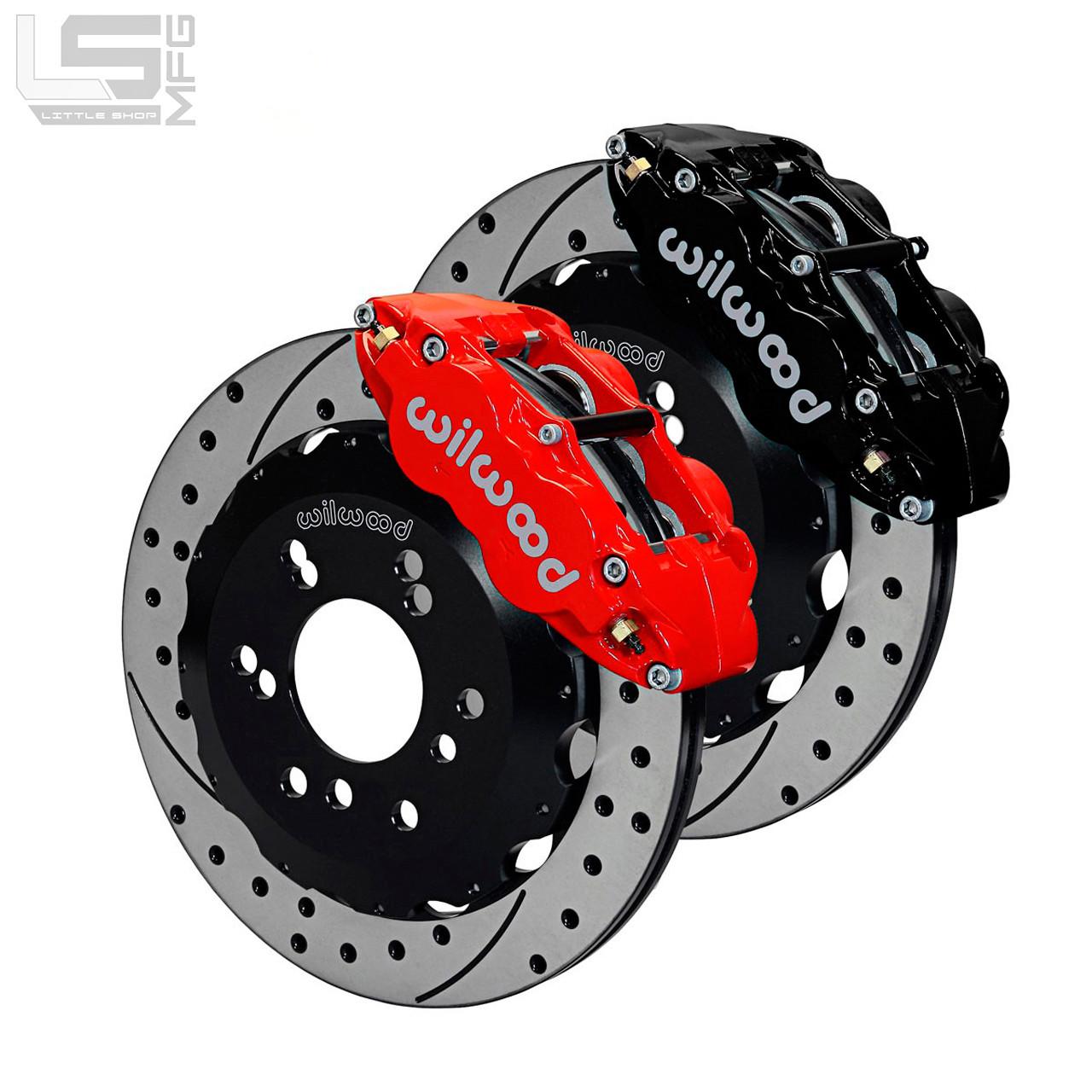 gm 88 00 6 lug k1500 14 front big brake kit little shop mfg