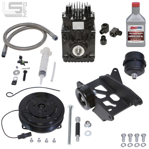 GM 4.3, 5.0, 5.7 Pre-Vortec Belt Driven Compressor Kit