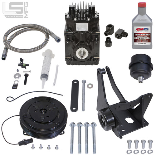 GM 4.3, 5.0, 5.7 Vortec Belt Driven Compressor Kit