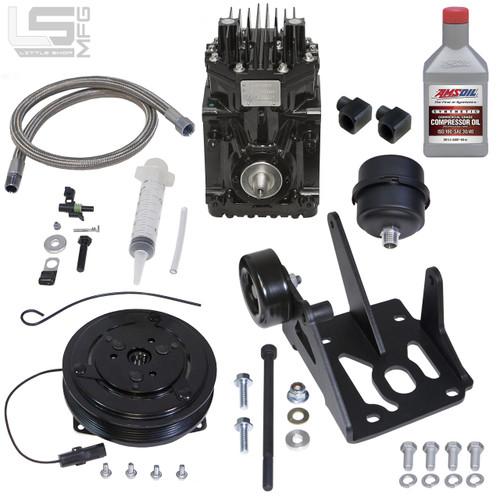GM 4 3, 5 0, 5 7 Pre-Vortec Belt Driven Compressor Kit - Little Shop Mfg