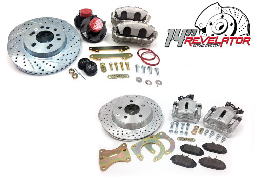 """Pro Performance 14""""/ 13"""" Front and Rear Big Brake Kit - 88-98 GM Truck / SUV"""