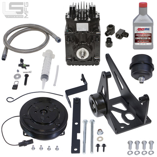GM 4.8, 5.3, 6.0, 6.2 LS Belt Driven Compressor Kit