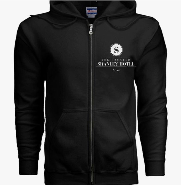 The Haunted Shanley Hotel Black Zip-Up Hoodie