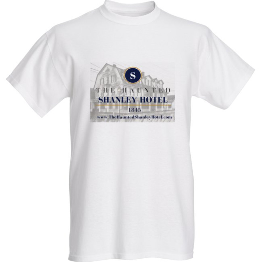 The Haunted Shanley Hotel T-Shirt | White Logo Tee