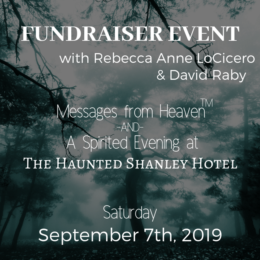 September 7th | Fundraiser Event with Rebecca Anne LoCicero & David Raby
