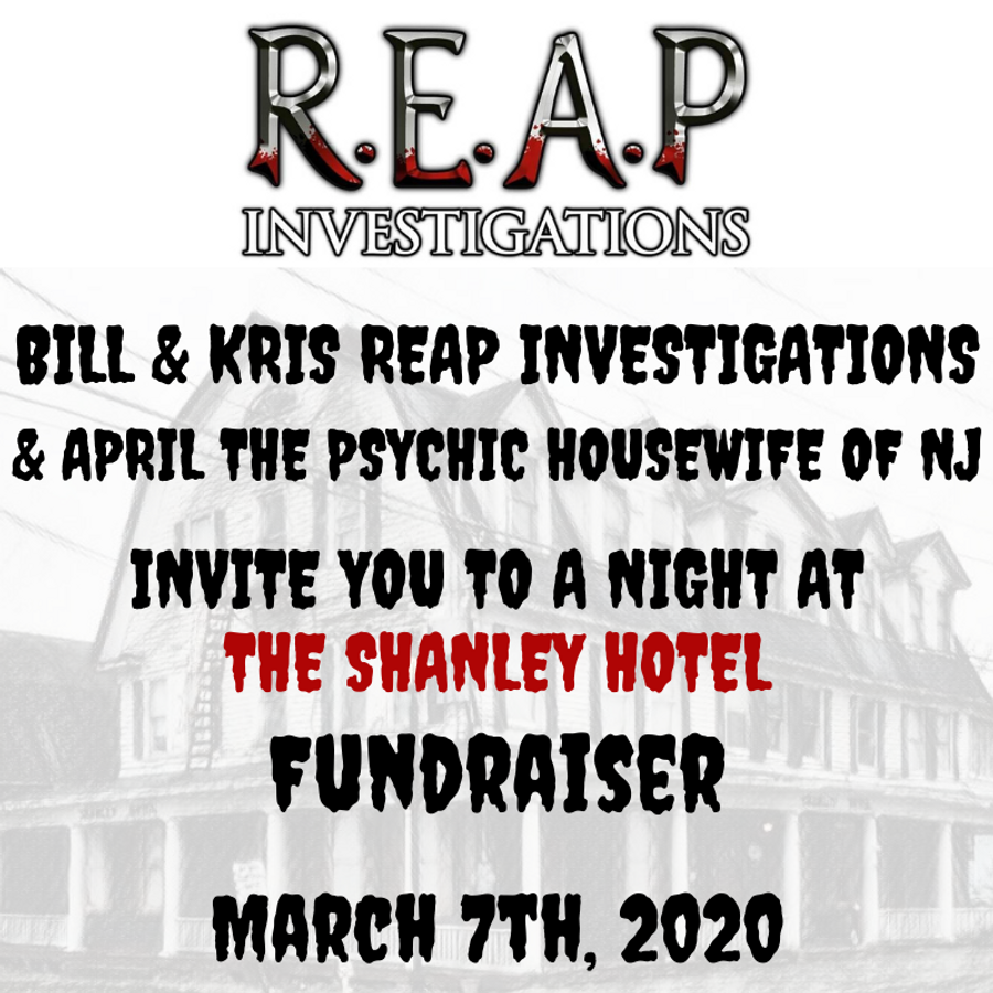 March 7th | Fundraiser Event with R.E.A.P Investigations & April the Psychic Housewife of NJ