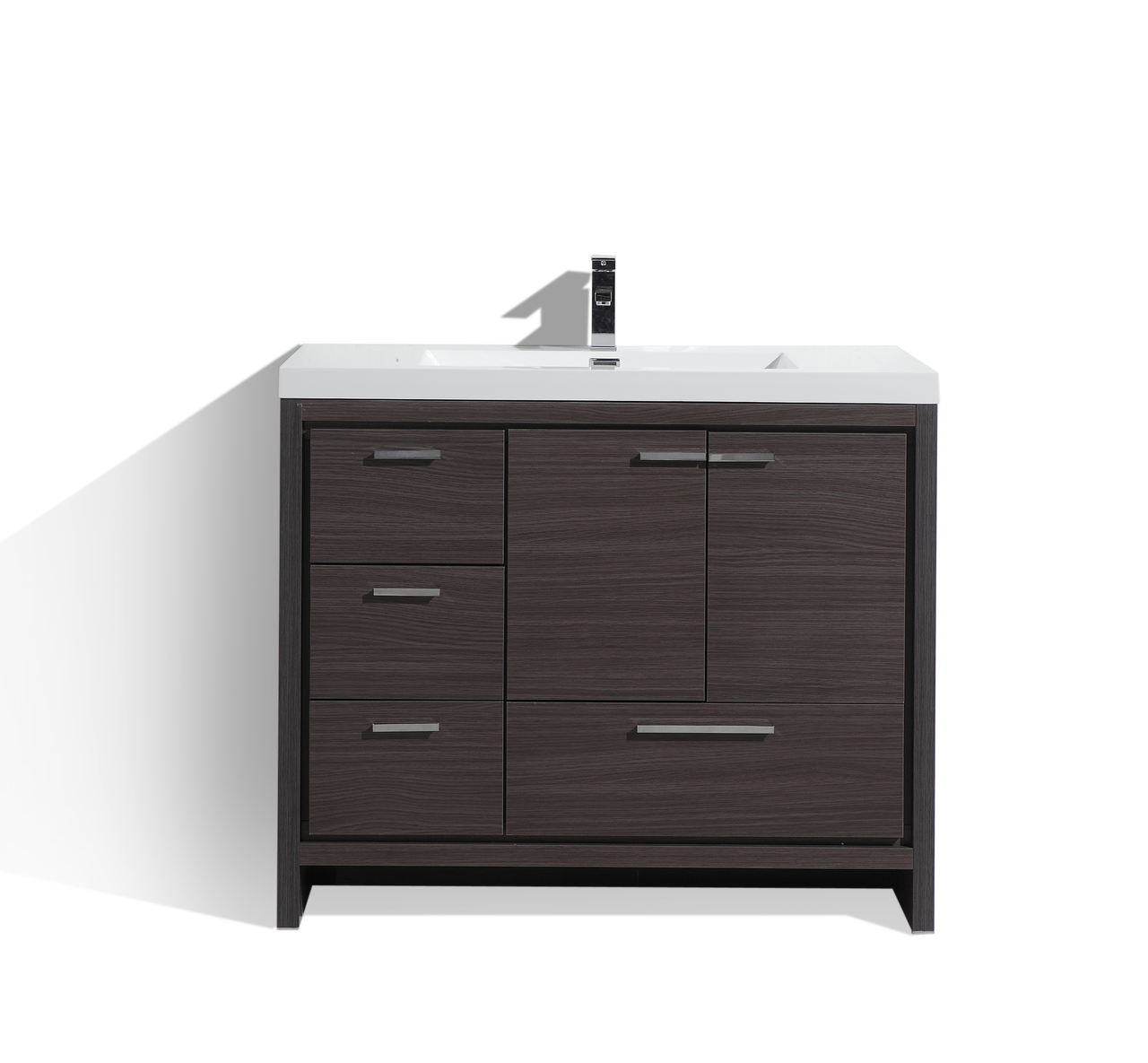 Peachy Moreno Dolce 42 Dark Gray Oak Modern Bathroom Vanity W Left Side Drawers And Acrylic Sink Download Free Architecture Designs Boapuretrmadebymaigaardcom