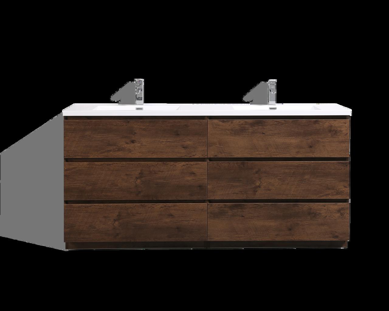 moa 72 u2033 double sink rosewood modern bathroom vanity w 6 drawers and rh vanityoutlets com 72 double sink bathroom vanity cabinet 72 inch double sink bathroom vanities