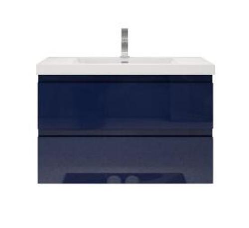 "MORENO MOB 36"" HIGH GLOSS NIGHT BLUE WALL MOUNTED MODERN BATHROOM VANITY"