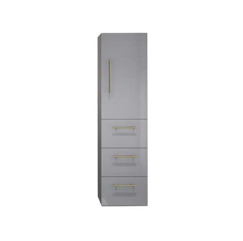 ELSA GLOSS GREY BATHROOM LINEN SIDE CABINET