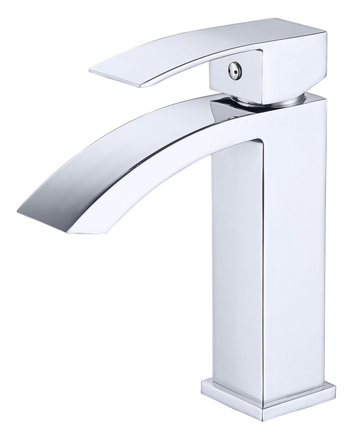 MODERN CURVE SINGLE HOLE FAUCET IN CHROME\MP002