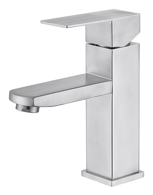MODERN SINGLE HOLE FAUCET IN BRUSH NICKEL\MP003L