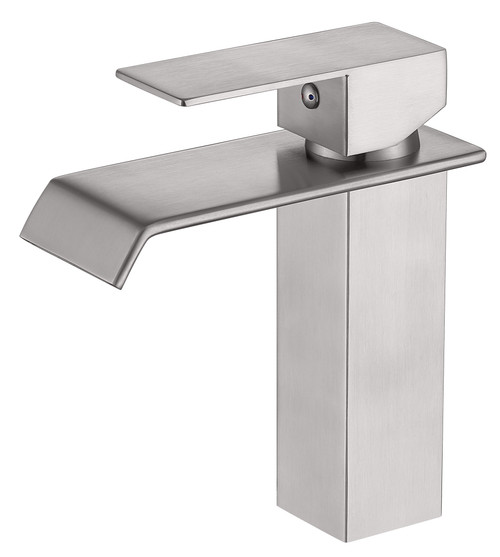 MODERN SINGLE HANDLE CENTERSET FAUCET IN BRUSH NICKEL\MP007L