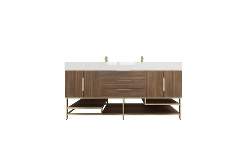 BT001 72'' Rosewood Freestanding Vanity with Reinforced Acrylic Sink