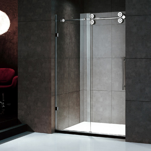 "Moreno Better BT228B 48""W×79""H Frameless Sliding Shower Enclosure--LA LOCAL PICK ONLY"
