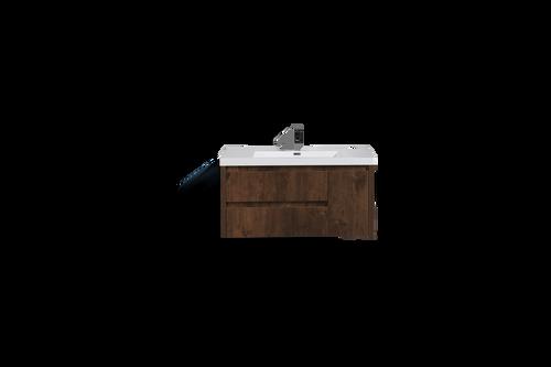 "JADE 42"" ROSEWOOD MOUNTED MODERN BATHROOM VANITY WITH ACRYLIC SINK"