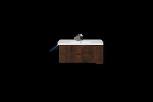 "JADE 48"" ROSEWOOD MOUNTED MODERN BATHROOM VANITY WITH ACRYLIC SINK"