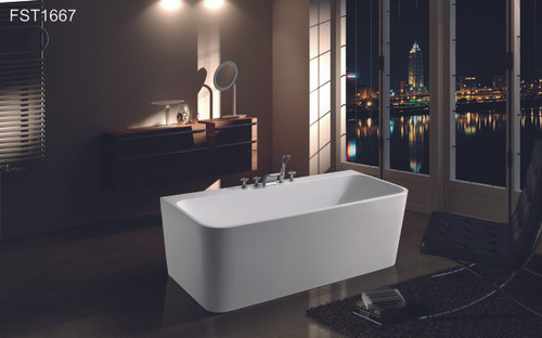 """ZILLING 66"""" FREE STANDING BATHTUB WITH TUB FILLER SET / CUPC APPROVAL--LA LOCAL PICK ONLY"""