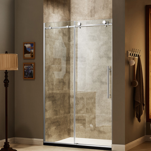 "Moreno Better BT227 48""W×79""H Frameless Sliding Shower Enclosure--LA LOCAL PICK ONLY"