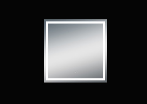 Fiona 40'' Polished Edge Frosted Panel LED Mirror (40''Height)