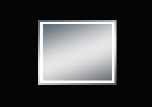 Fiona 47'' Polished Edge Frosted Panel LED Mirror (40''Height)