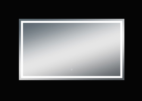 Fiona 68'' Polished Edge Frosted Panel LED Mirror (40''Height)