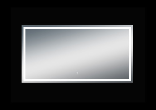 Fiona 76'' Polished Edge Frosted Panel LED Mirror (40''Height)