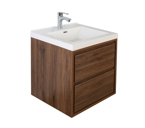 "Molly 24"" Rosewood Wall Mounted Modern Vanity"