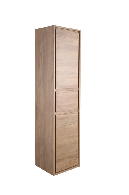 MOLLY MOM TEAK OAK BATHROOM LINEN SIDE CABINET