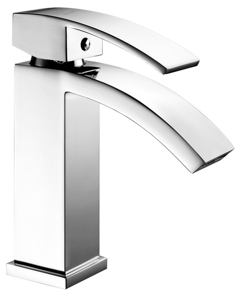 Chrome Angular Rounded Single Lever Faucet