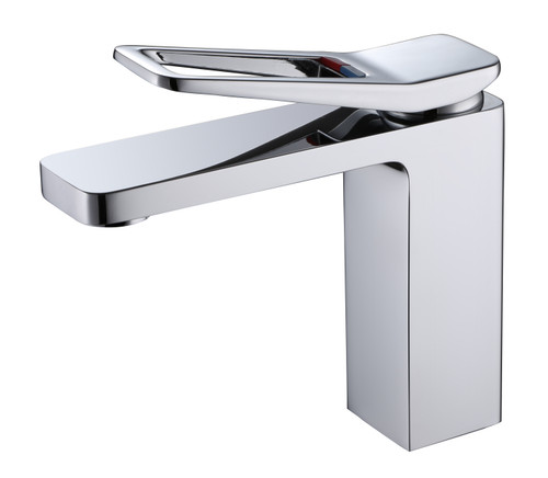 Chrome Single Hook Lever Faucet