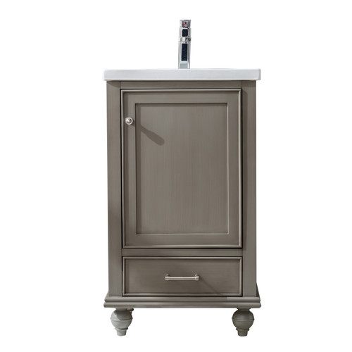 MELISSA 20'' KEYSTONE GREY SOILD VANITY WITH CERMICE COUNTER TOP