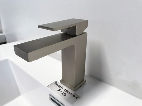 Brushed Nickel Angular Modern Single Lever Faucet