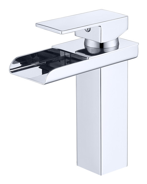 MODERN SINGLE HOLE WATERFALL FAUCET IN CHROME\MP005
