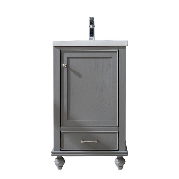 MELISSA 20'' GAUNLET GREY SOILD VANITY WITH CERMICE COUNTER TOP