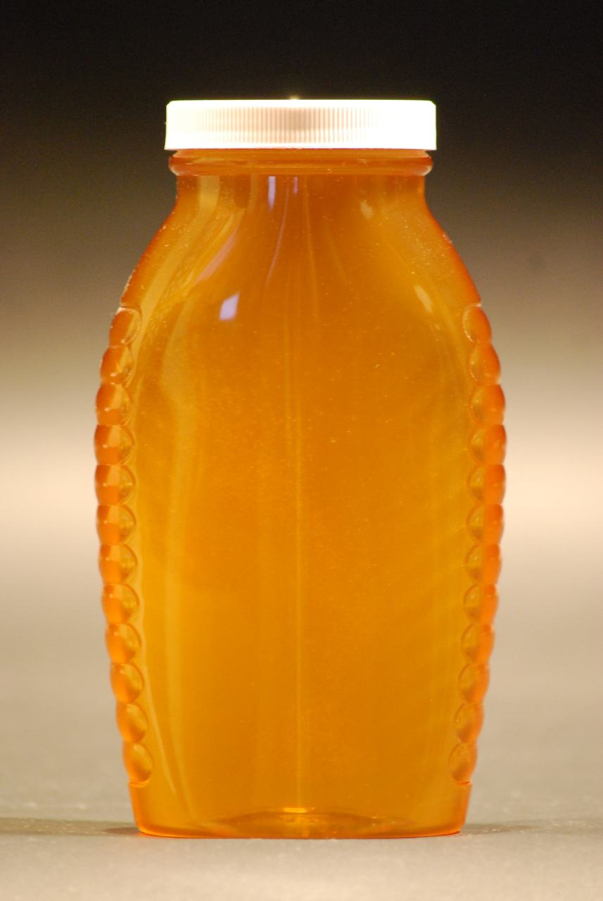 2 lb. wide mouth queenline plastic honey bottles - case of 50