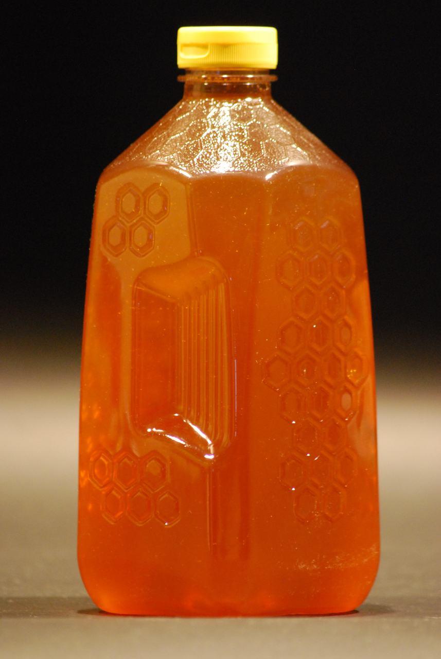 5 lb. Embossed Honeycomb Plastic Honey Jugs - Case of 6