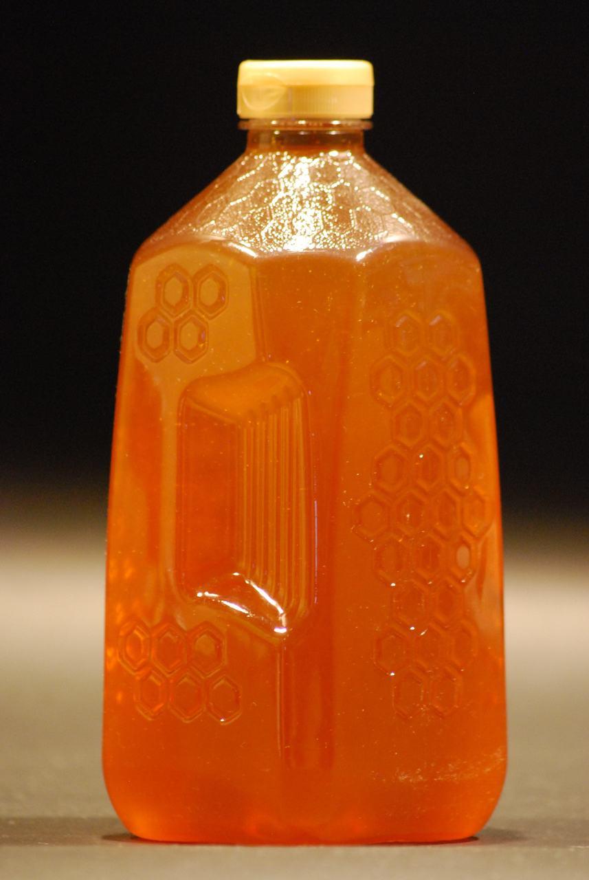5 lb. Embossed Honeycomb Plastic Honey Jugs - case of 72
