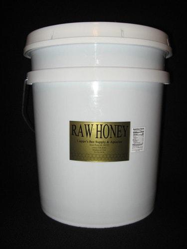 60 lb. bucket of raw Iowa honey