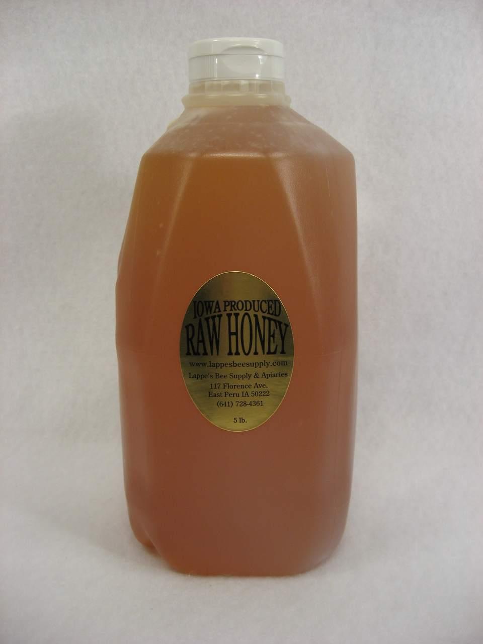 5 lb. Iowa produced raw honey