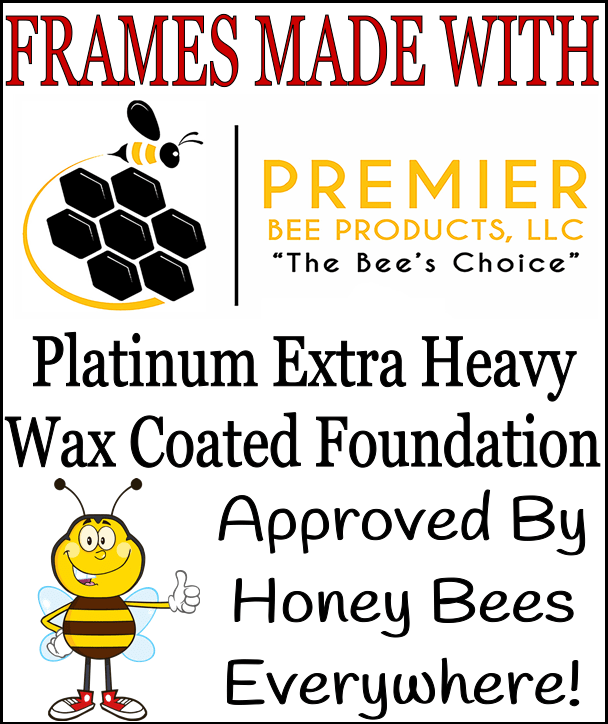 Frames made with Premier Platinum Extra Heavy Wax Coated Foundation