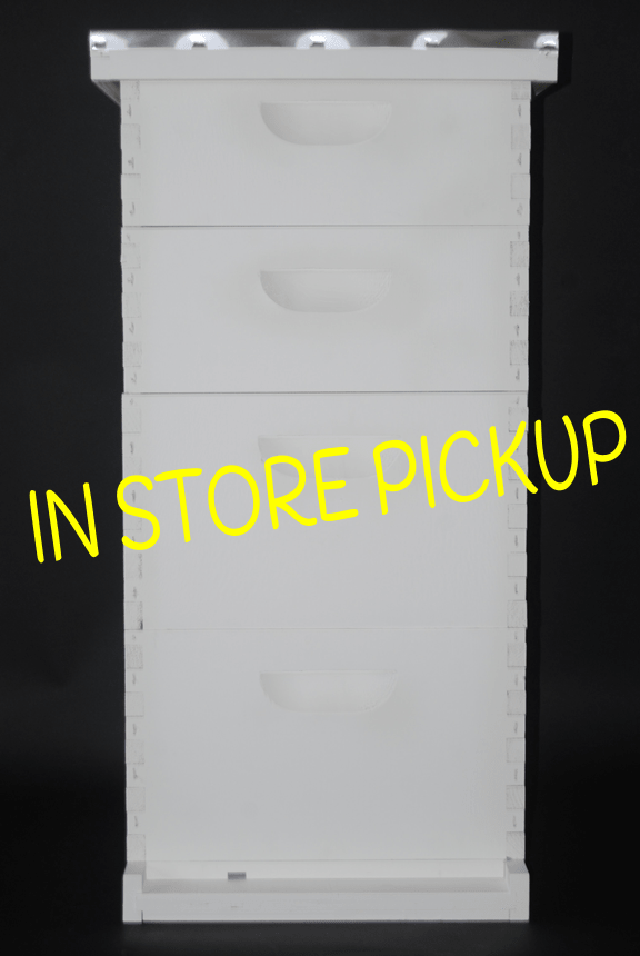 8 Frame Painted Premium Bee Hive Colony Expanding Kit In Store Pickup